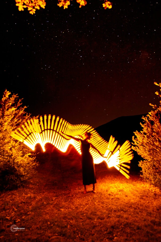 Lightpainting model Noortje